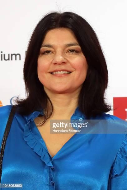 Jasmin Tabatabai, actor, attends the opening ceremony of the 2018 Frankfurt Book Fair on October 9, 2018 in Frankfurt am Main, Germany. The 2018...