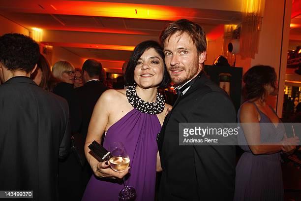 Jasmin Tabatabai and Andreas Pietschmann attend the Lola German Film Award 2012 Party at FriedrichstadtPalast on April 27 2012 in Berlin Germany