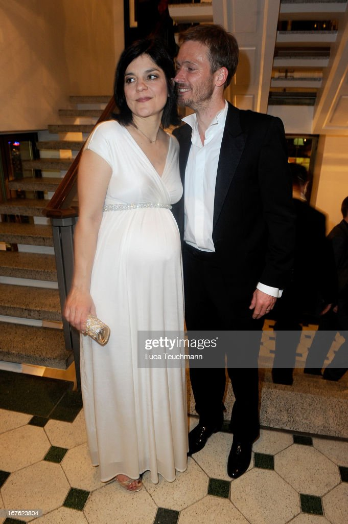 Jasmin Tabatabai and Andreas Pietschmann attend the Lola - German Film Award 2013 - Party at Friedrichstadt-Palast on April 26, 2013 in Berlin, Germany.