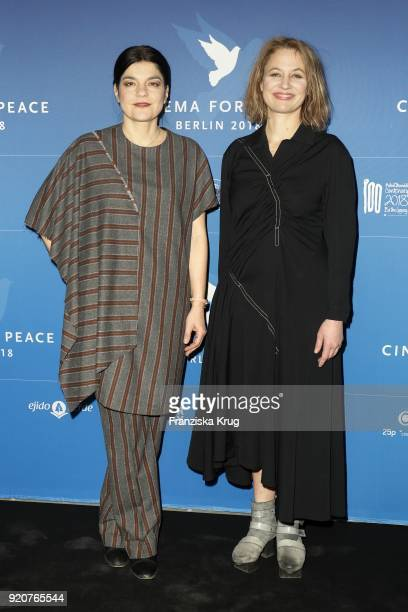 Jasmin Tabatabai and Julia Thurnau attend the Cinema For Peace Gala on the occasion of the 68th Berlinale International Film Festival at Hotel De...