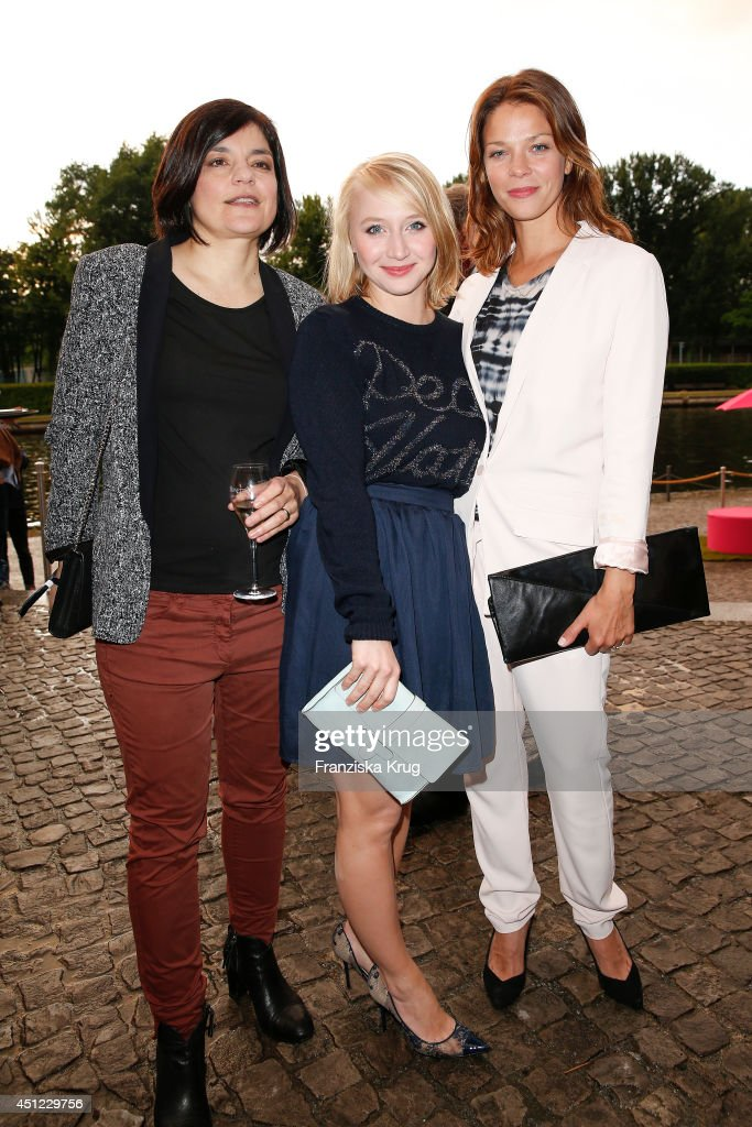 Jasmin Tabatabai, Anna Maria Muehe and Jessica Schwarz attend the producer party 2014 (Produzentenfest) of the Alliance German Producer - Cinema And Television on June 25, 2014 in Berlin, Germany.