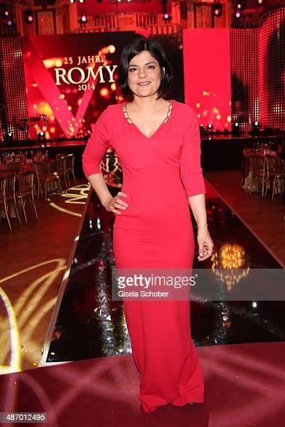 Jasmin Tabatabai attends the 25th Romy Award 2014 at Hofburg Vienna on April 26 2014 in Vienna Austria