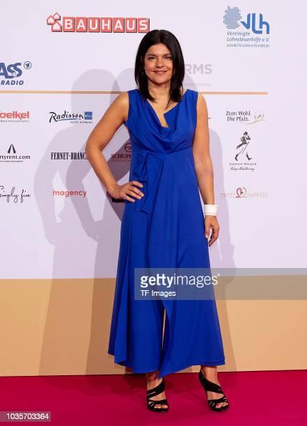 Jasmin Tabatabai attends the Deutscher Radiopreis at Schuppen 52 on September 6 2018 in Hamburg Germany