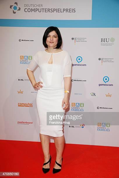 Jasmin Tabatabai attends the German Computer Games Award 2015 at eWerk on April 21 2015 in Berlin Germany