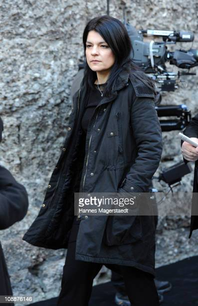 Jasmin Tabatabai attends the memorial service for Bernd Eichinger at the St Michael Kirche on February 07 2011 in Munich Germany Producer Bernd...