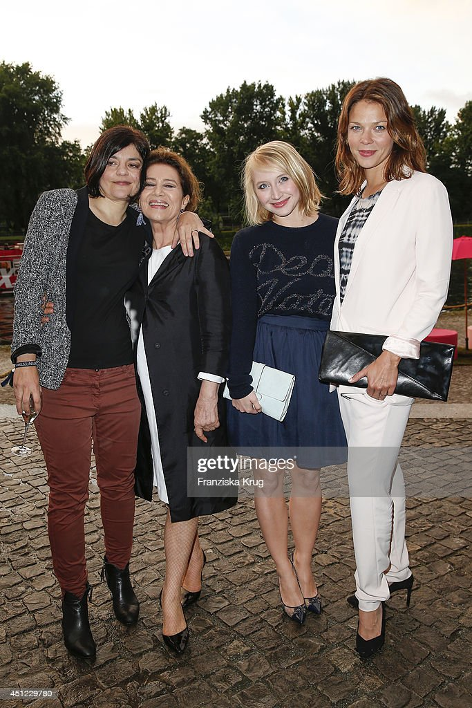 Jasmin Tabatabai, Hannelore Elsner, Anna Maria Muehe and Jessica Schwarz attend the producer party 2014 (Produzentenfest) of the Alliance German Producer - Cinema And Television on June 25, 2014 in Berlin, Germany.