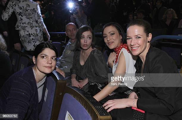 Jasmin Tabatabei, Anna Thalbach, Miriam Pielhau and Alexandra Neldel arrive at the Michalsky Style Night during the Mercedes-Benz Fashion Week Berlin...