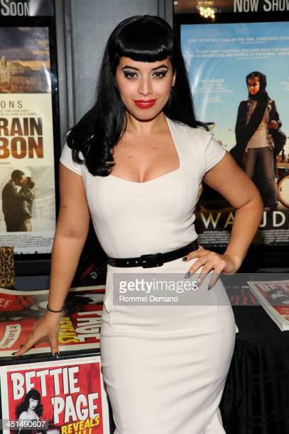 Jasmin Vintage Vandalizm Rodriguez attends the screening of Bettie Page Reveals All at Village East Cinema on November 22 2013 in New York City