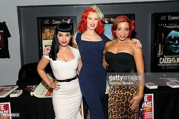 Jasmin Vintage Vandalizm Rodriguez Bettina May and Phoenix attend the screening of Bettie Page Reveals All at Village East Cinema on November 22 2013...