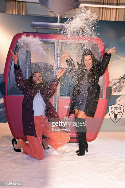 Jasmin Wagner and Fernanda Brandao attend the Nobis Collection Viewing during Berlin Fashion Week Autumn/Winter 2020 at Hotel de Rome on January 14...