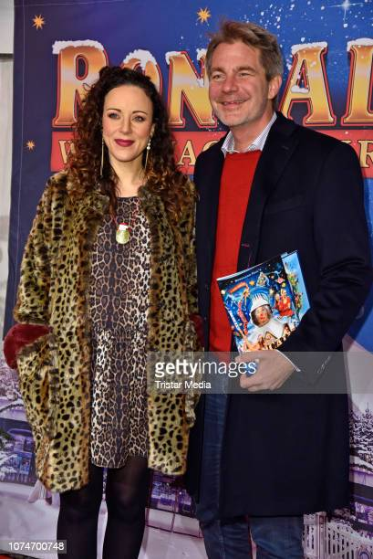 Jasmin Wagner and her husband Frank Sippel attend the 15th Roncalli christmas circus premiere at Tempodrom on December 22 2018 in Berlin Germany