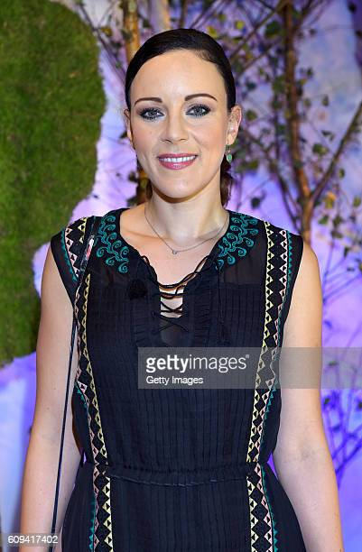 Jasmin Wagner attend the 'Into the Forest' exhibition opening at Haus der Photographie at Deichtorhallen Hamburg on September 20 2016 in Hamburg...