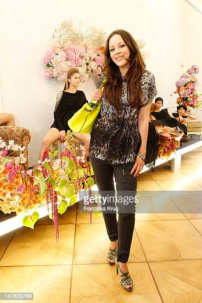 Jasmin Wagner attends Augustin Teboul presentation 'Les Fleurs Du Mal' at Berlin Fashion Week on July 4 2012 in Berlin Germany
