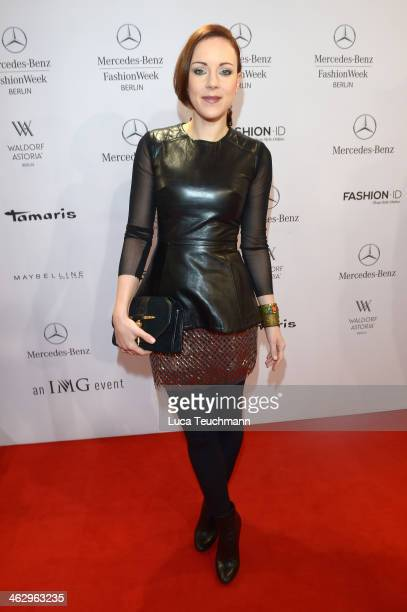 Jasmin Wagner attends the Glaw show during MercedesBenz Fashion Week Autumn/Winter 2014/15 at Brandenburg Gate on January 16 2014 in Berlin Germany