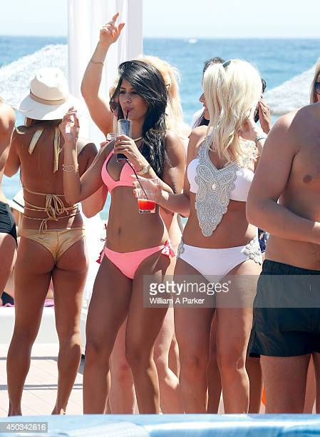 Jasmin Walia and Danielle Armstrong spotted filming for The Only Way Is Essex on June 9 2014 in Marbella