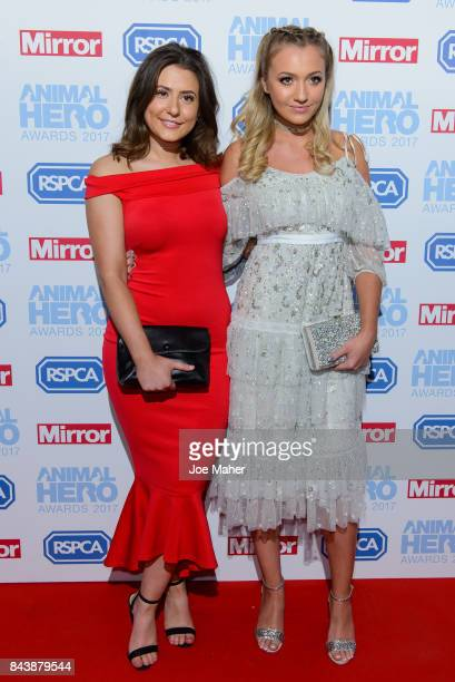 Jasmine Armfield and Tilly Keeper attend the Animal Hero Awards 2017 at The Grosvenor House Hotel on September 7 2017 in London England