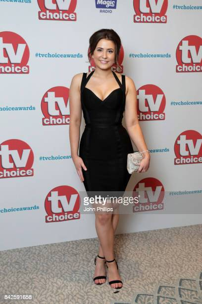 Jasmine Armfield arrives for the TV Choice Awards at The Dorchester on September 4 2017 in London England