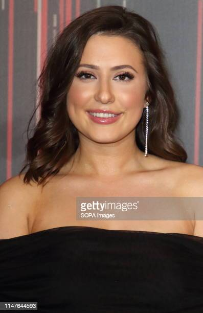 Jasmine Armfield arrives on the red carpet during The British Soap Awards 2019 at The Lowry Media City Salford in Manchester