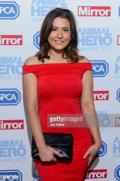 Jasmine Armfield attends the Animal Hero Awards 2017 at The Grosvenor House Hotel on September 7 2017 in London England