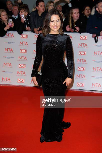 Jasmine Armfield attends the National Television Awards 2018 at The O2 Arena on January 23 2018 in London England
