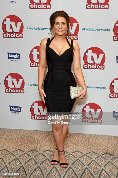 Jasmine Armfield attends the TV Choice Awards at The Dorchester on September 4 2017 in London England