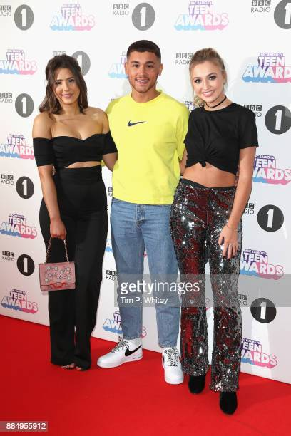 Jasmine Armfield Shaheen Jafargholi and Tilly Keeper attend the BBC Radio 1 Teen Awards 2017 at Wembley Arena on October 22 2017 in London England