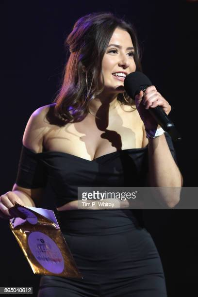 Jasmine Armfield speaks on stage during the BBC Radio 1 Teen Awards 2017 at Wembley Arena on October 22 2017 in London England