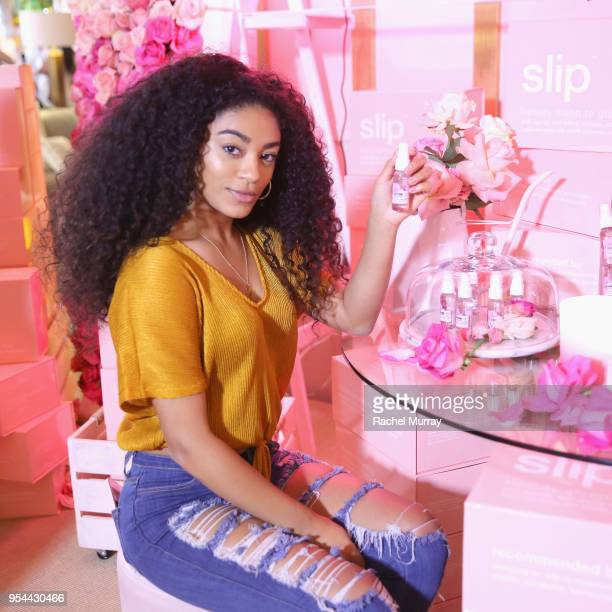 Jasmine Brown attends a 'Girls' Night In' hosted by Mandy Moore and Garnier at Hills Penthouse on May 3 2018 in West Hollywood California