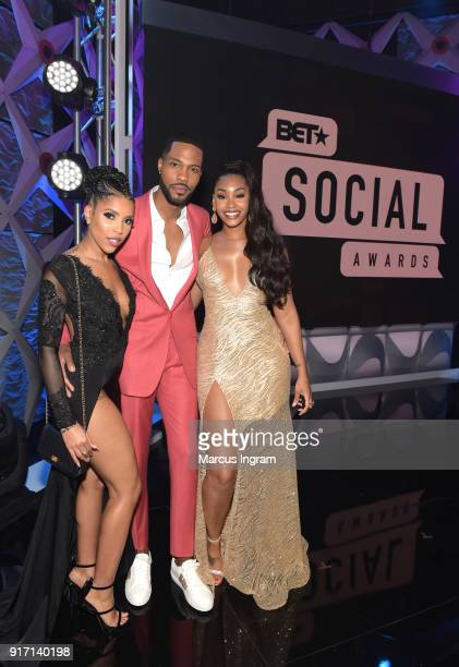 Jasmine Brown Kendall Kyndall and Jasmin Brown attend BET's Social Awards 2018 at Tyler Perry Studio on February 11 2018 in Atlanta Georgia