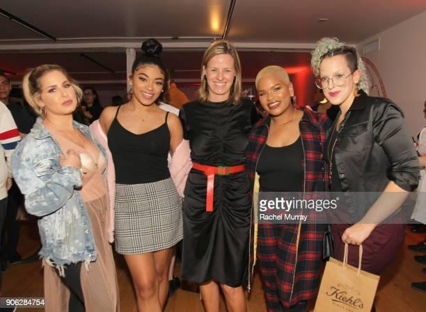 Jasmine Brown Kiehl's Brand President Megan Grant Alissa Ashley and Fernanda Machado at Kiehl's Turns Up the PotentC with the NEW PowerfulStrength...