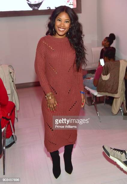 Jasmine Burke attends the 2018 Interscope National Championship Watch Party at Bytes Restaurant on January 8 2018 in Atlanta Georgia