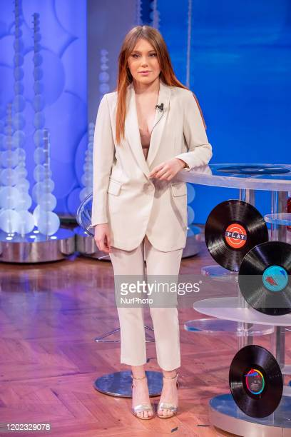 Jasmine Carrisi attend 'Vieni da Me' the TV show of Caterina Balivo that turns 40