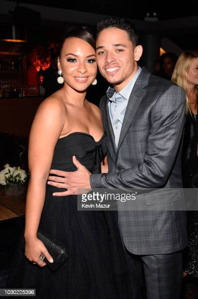 Jasmine Cephas Jones and Anthony Ramos attend the A Star Is Born premiere after party during 2018 Toronto International Film Festival at Masonic...