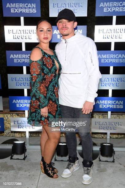 Jasmine Cephas Jones and Anthony Ramos attends American Express Platinum House At The 1 Hotel South Beach at 1 Hotel South Beach on December 6 2018...