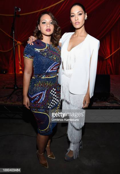 Janina Gavankar Daveed Diggs James Monroe Iglehart Rafael Casal and Jasmine Cephas Jones attend the after party for 'Blindspotting' New York Premiere...