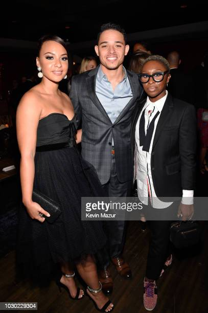 Jasmine Cephas Jones Anthony Ramos and Cynthia Erivo attend the 'A Star Is Born' premiere after party during 2018 Toronto International Film Festival...