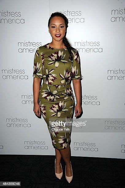 Jasmine Cephas Jones attends Mistress America New York premiere at Landmark Sunshine Cinema on August 12 2015 in New York City