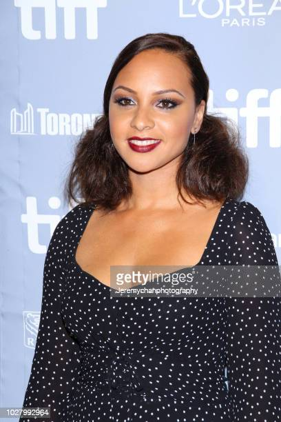 Jasmine Cephas Jones attends the Monsters And Men Premiere during the 2018 Toronto International Film Festival at TIFF Bell Lightbox on September 6...