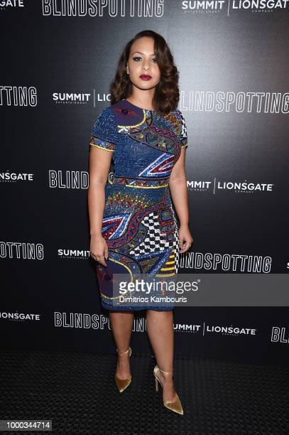 Jasmine Cephas Jones attends the screening of Blindspotting hosted by Lionsgate at Angelika Film Center on July 16 2018 in New York City