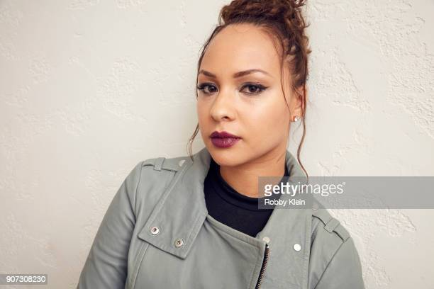 Jasmine Cephas Jones from the film 'Monsters And Men' poses for a portrait in the YouTube x Getty Images Portrait Studio at 2018 Sundance Film...