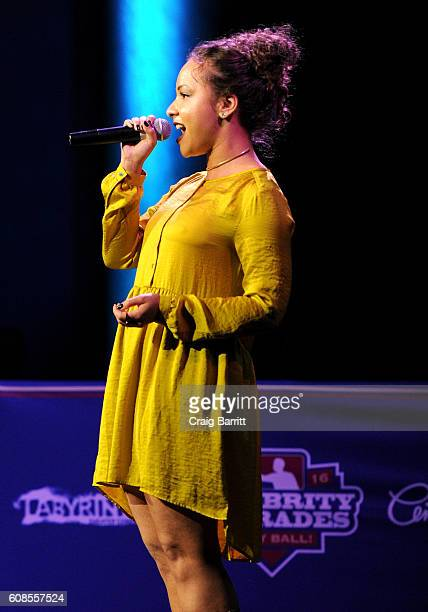 Jasmine Cephas Jones performs onstage at the Labyrinth Theater Company's Celebrity Charades Gala 2016 at Capitale on September 19 2016 in New York...