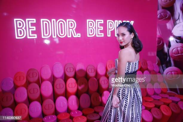 Jasmine Chin attends Dior Addict Stellar Shine launch at Layers 57 on April 04 2019 in Seoul South Korea