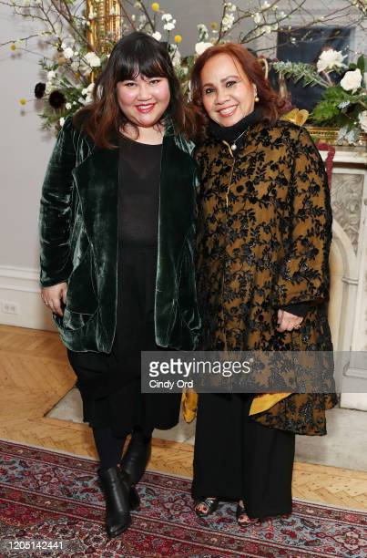 Jasmine Chong and Heyley Tabalujan Chong attend the Jasmine Chong runway show during New York Fashion Week on February 09 2020 in New York City