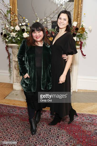 Jasmine Chong and Julia Gamolina attend the Jasmine Chong runway show during New York Fashion Week on February 09 2020 in New York City
