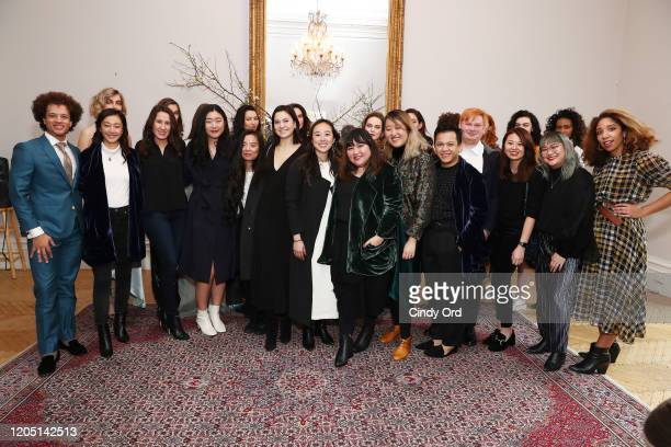 Jasmine Chong poses with friends after the Jasmine Chong runway show during New York Fashion Week on February 09 2020 in New York City