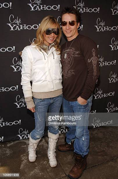 Jasmine Dustin and Aaron Wade during 2006 Park City Cafe Yahoo and W Hotel Lounge at Village at the Lift Day 2 at Village at the Lift in Park City...