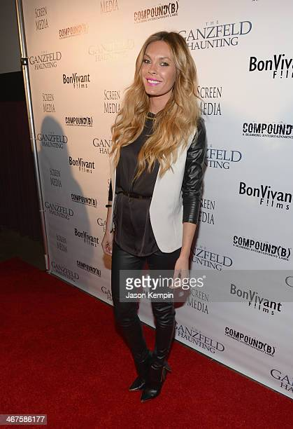 Jasmine Dustin attends the premiere of Screen Media Darkside's 'Ganzfeld Haunting' at Laemmle's Music Hall Theatre on February 6 2014 in Beverly...