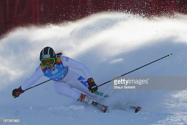 Jasmine Fiorano of Italy in action during the Women's Giant Slalom Event on January 18 2012 in Patscherkofel Austria