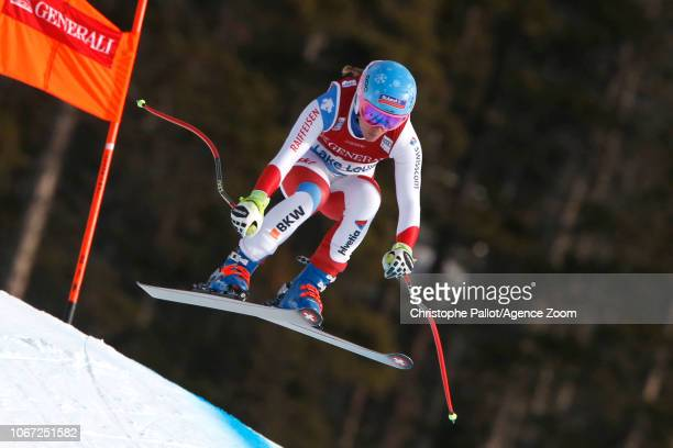 Jasmine Flury of Switzerland in action during the Audi FIS Alpine Ski World Cup Women's Downhill on December 1 2018 in Lake Louise Canada