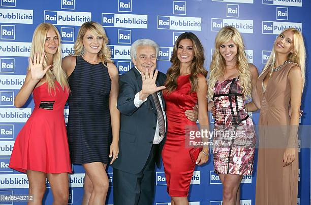 Jasmine Gigli Manila Nazzaro Michele Guardi Alessia Ventura Elena Ballerini and Jai Carol Gigli attend RAI Yearly TV Show Schedule at Villa...